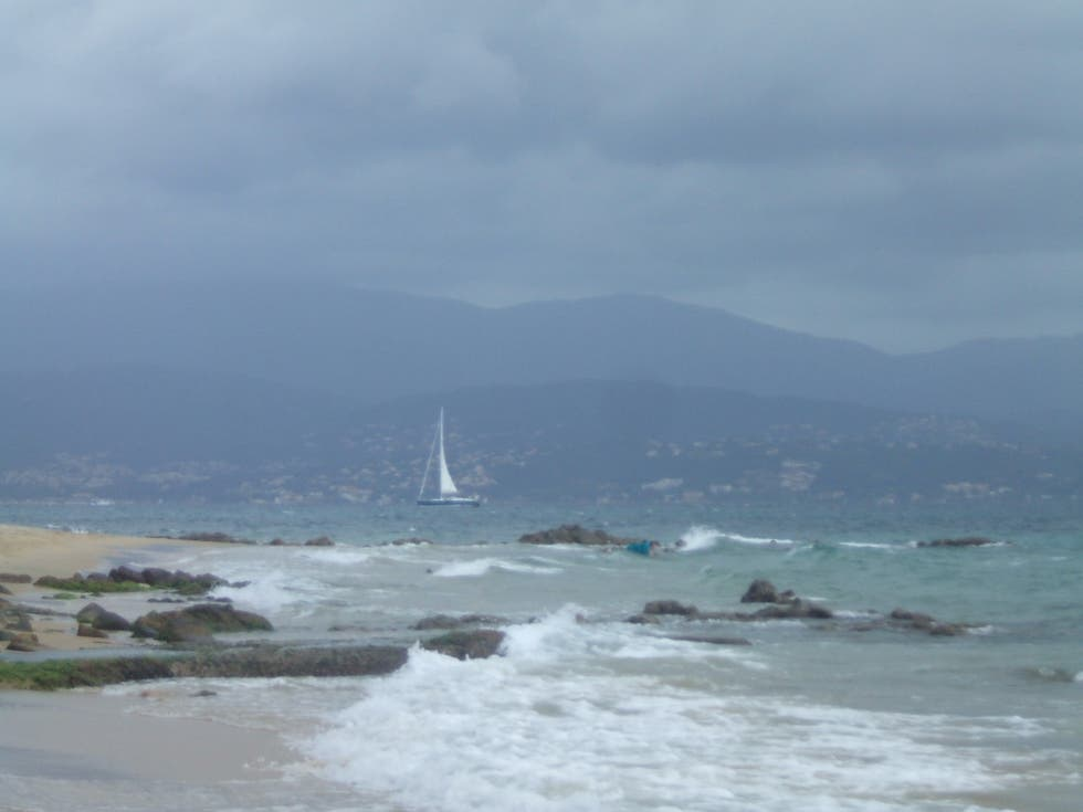 Beach in Ajaccio