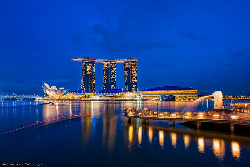 Blue in Singapore