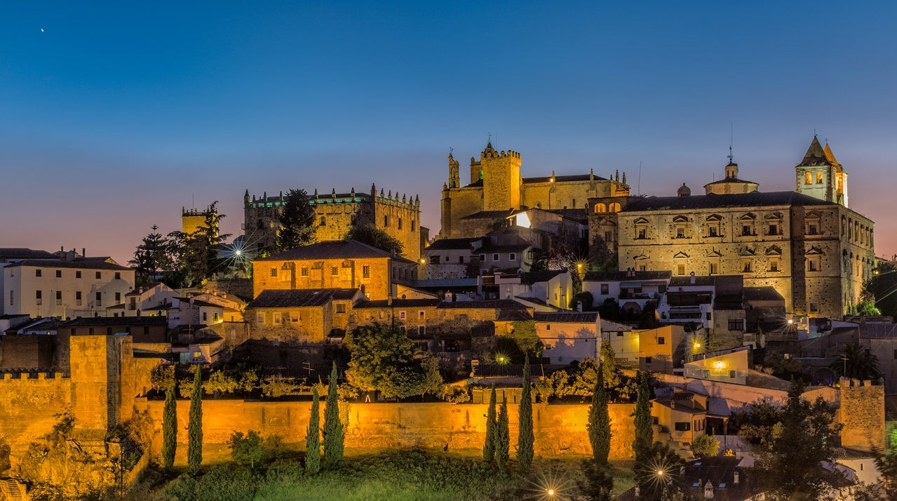 Dusk in Caceres