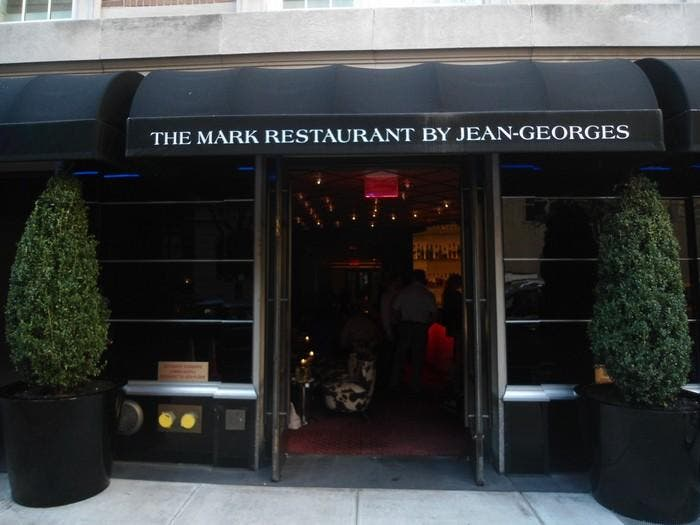 Plato en The Mark Restaurant by Jean Georges