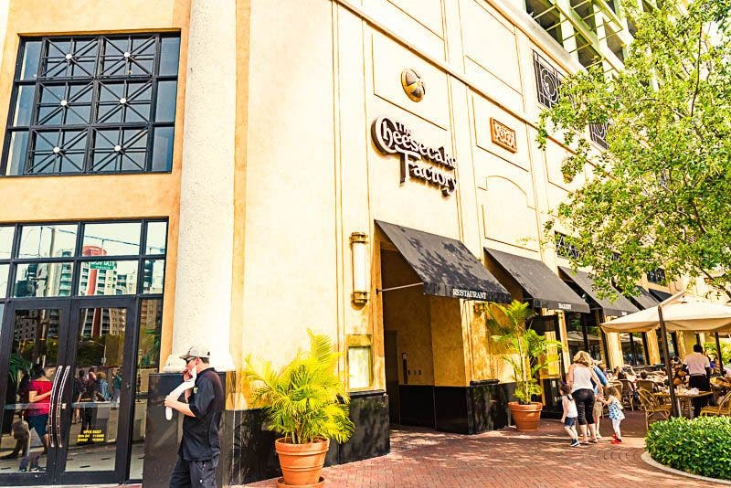 Ciudad en The Cheesecake Factory