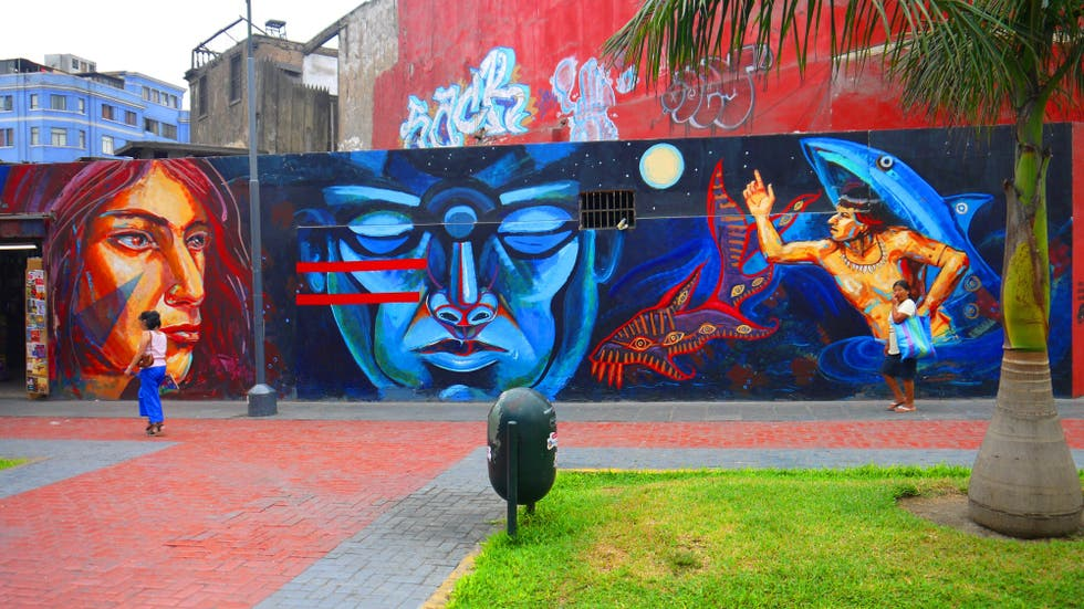 Graffiti en Plaza Francia