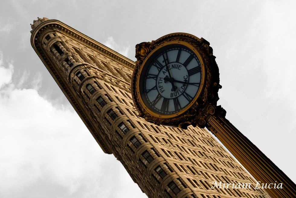Flat Iron y el reloj de la Fifth Avenue