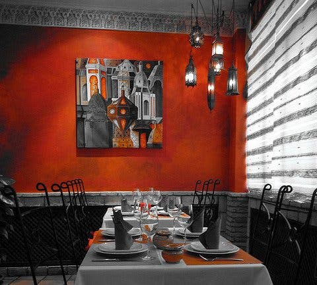 Pared en Restaurante Al Medina