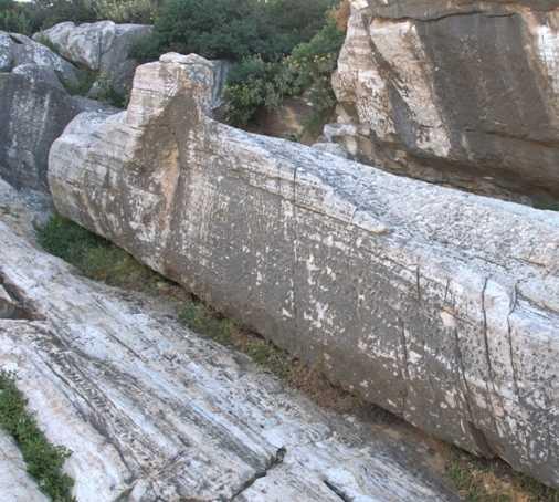Pared en El Kouros de Apollonas