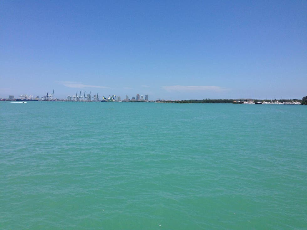 Sea in Key Biscayne from Miami