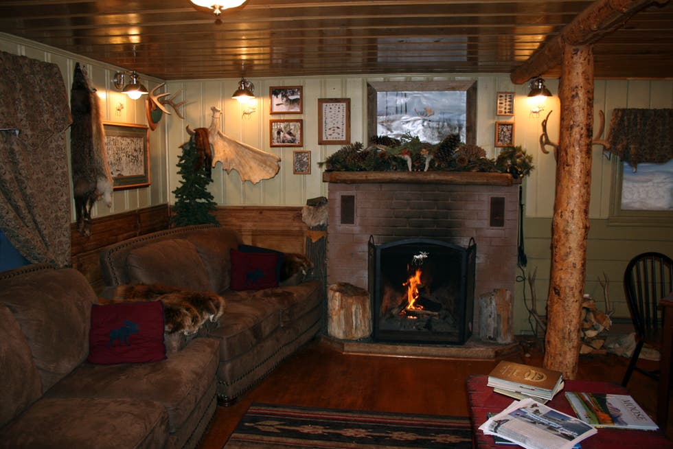 Sala en Moose Creek Cabins