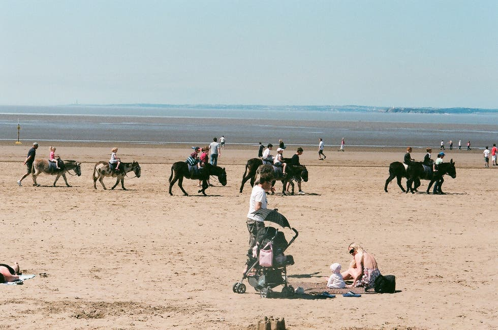 Playa en Weston-super-Mare, Somerset