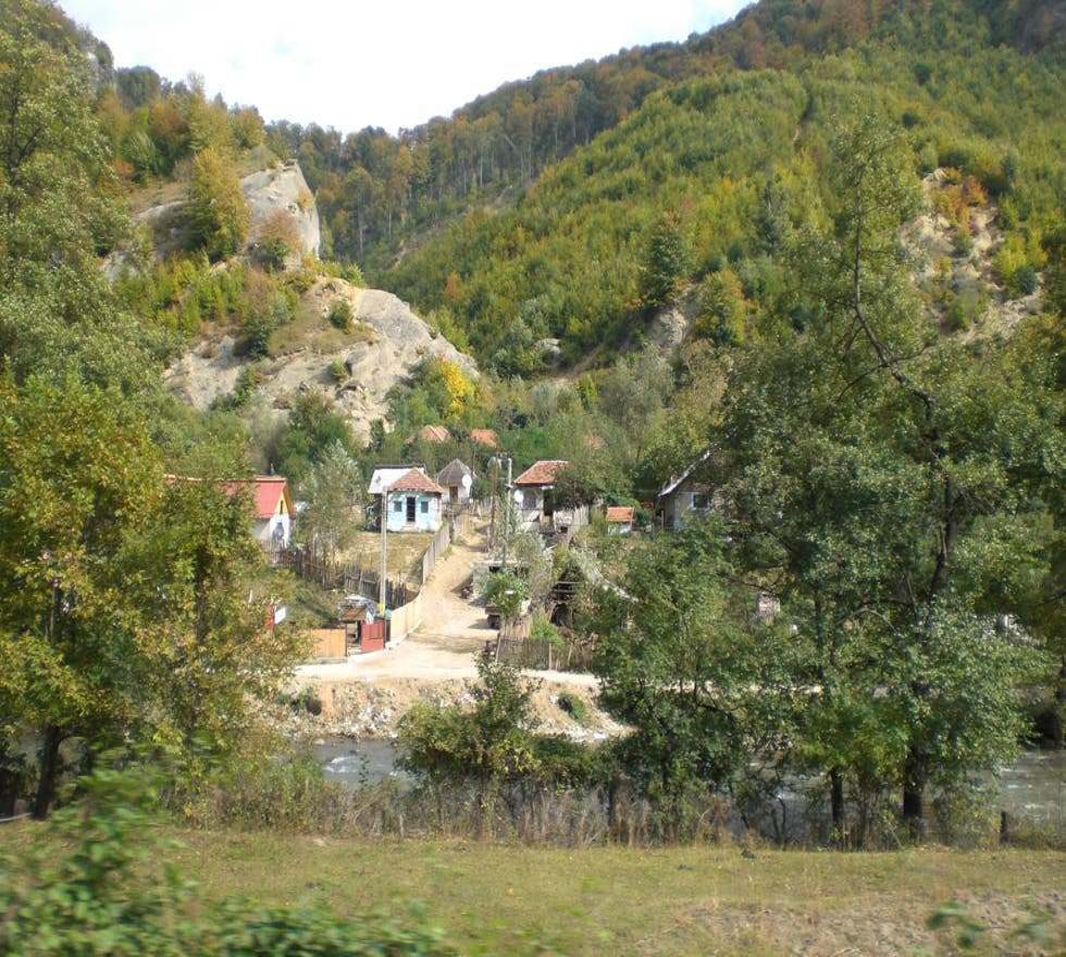 Aldea en Rumanía