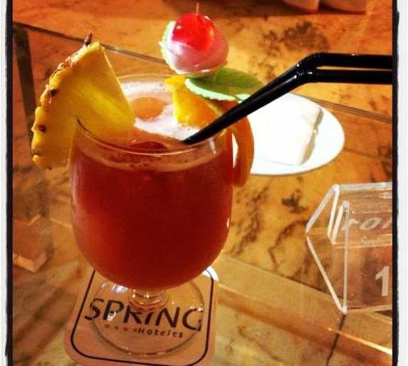 Bebida en Hotel Vulcano