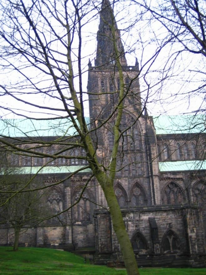 Hoja en Catedral de Glasgow - High Kirk