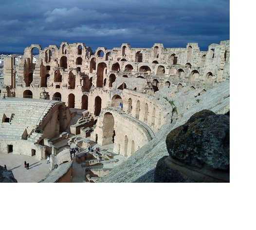 Costa en Anfiteatro romano de El Jem