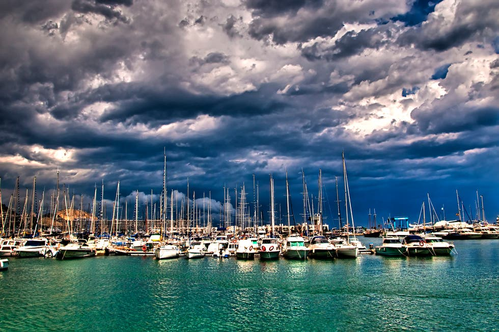 Blue in Port of Alicante
