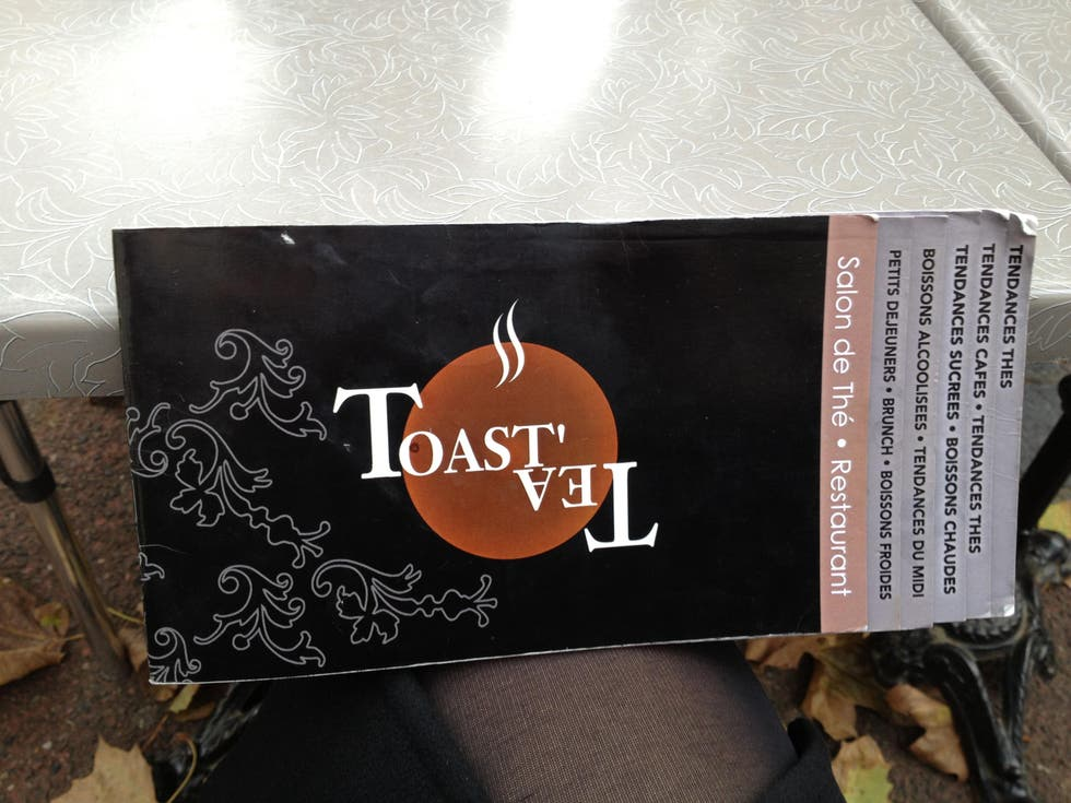 Documento en Restaurante Toast tea