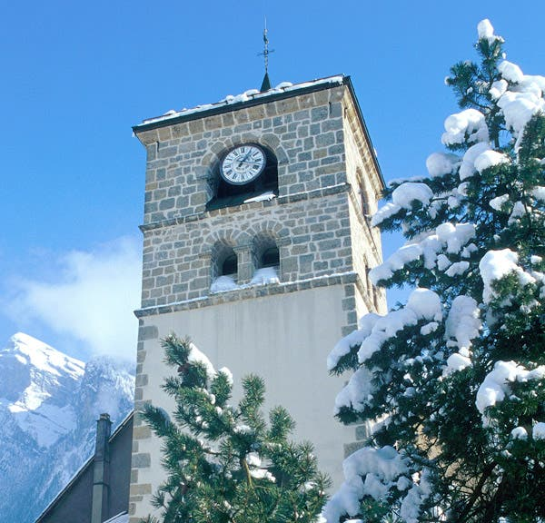 Clock Tower in Samoëns