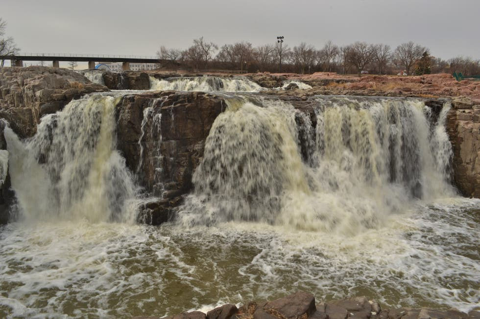 Waterfall in Sioux Falls