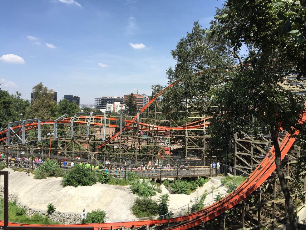 Parque de atracciones en Six Flags Mexico