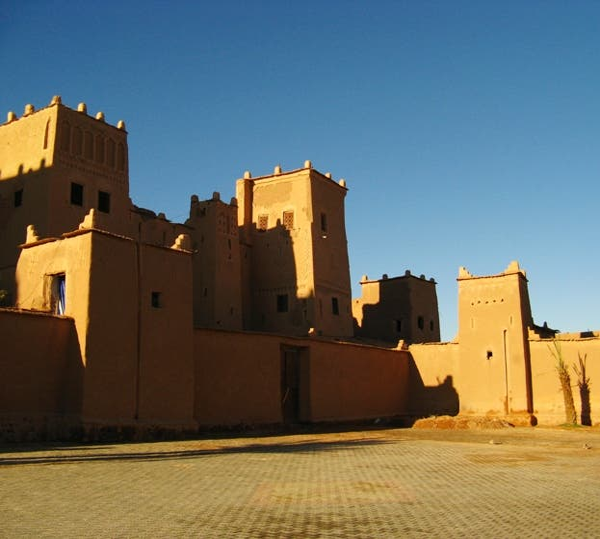 Amarillo en Kasbah de Taourirt