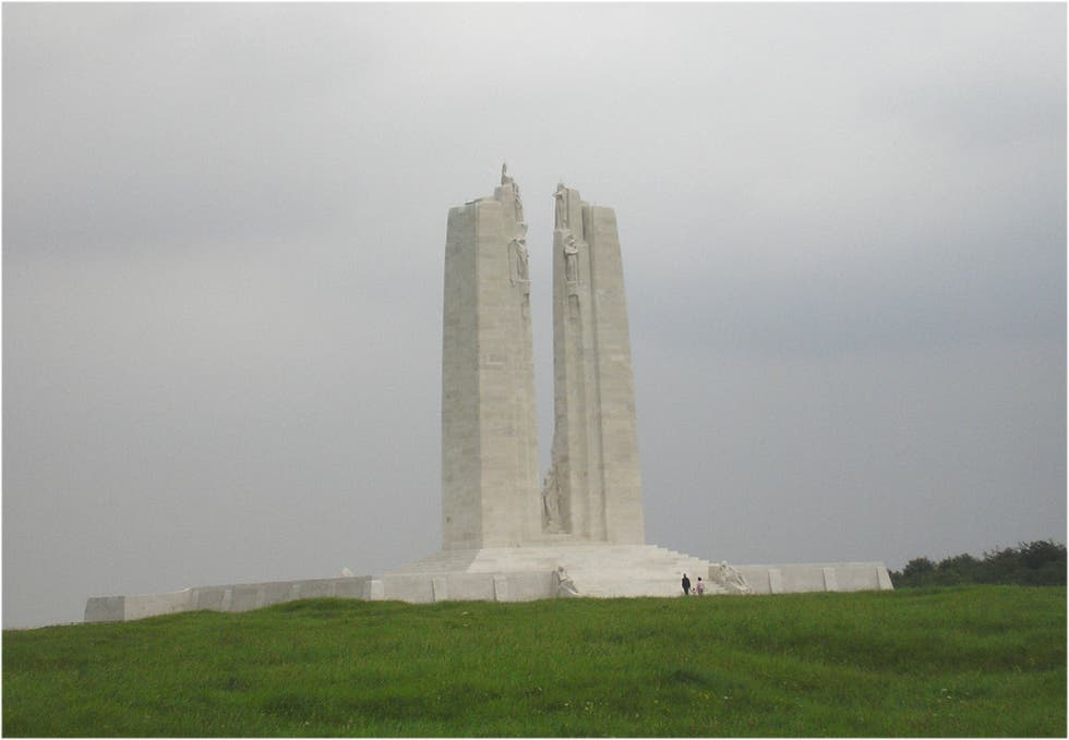 Memorial en Canadian National Vimy Memorial