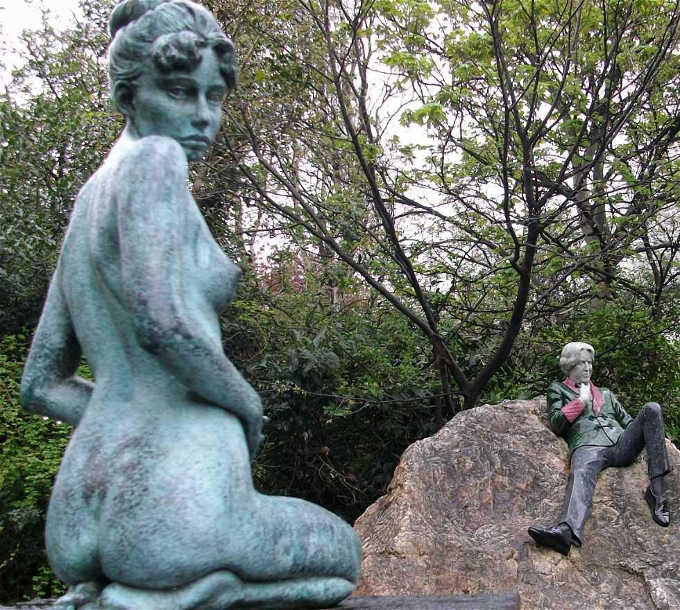 Monumento en Estatua de Oscar Wilde