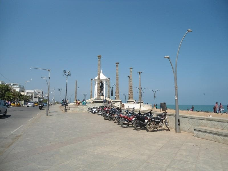 Mar en Paseo de Pondichery