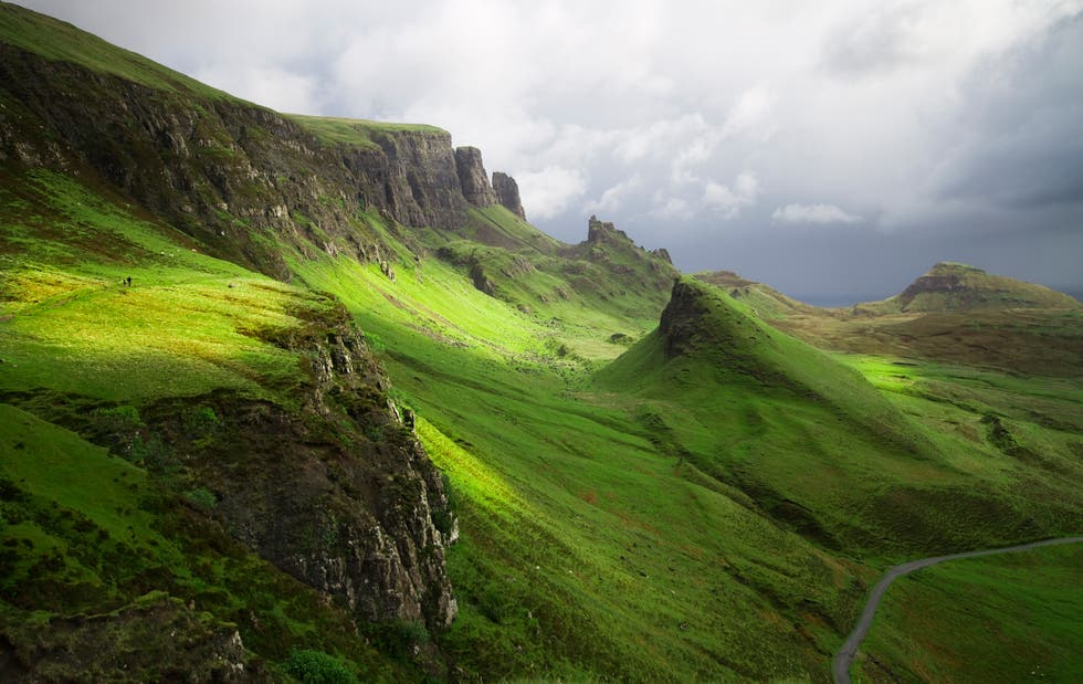 Green in The Quiraing
