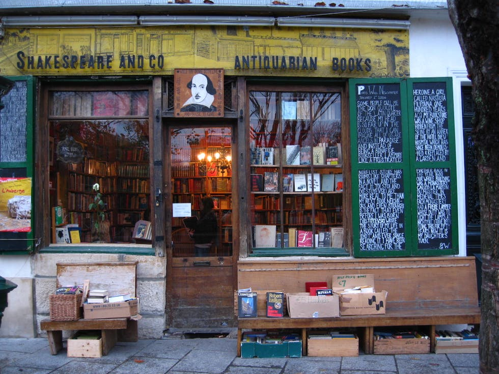 Librería en Shakespeare & Co.