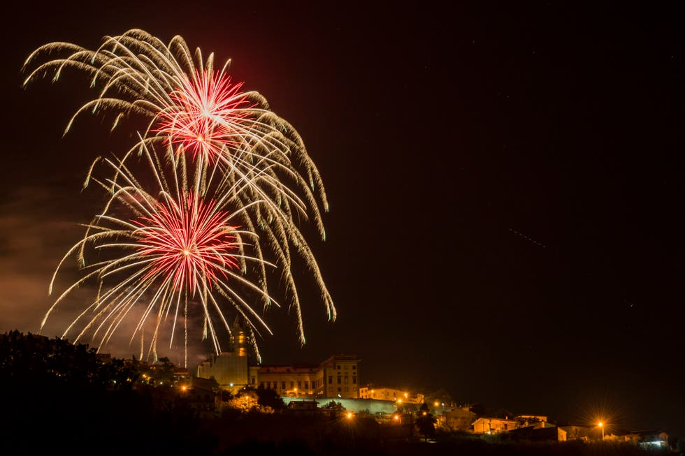 Fuegos artificiales en Paliano