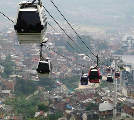 Teleférico en Medellín