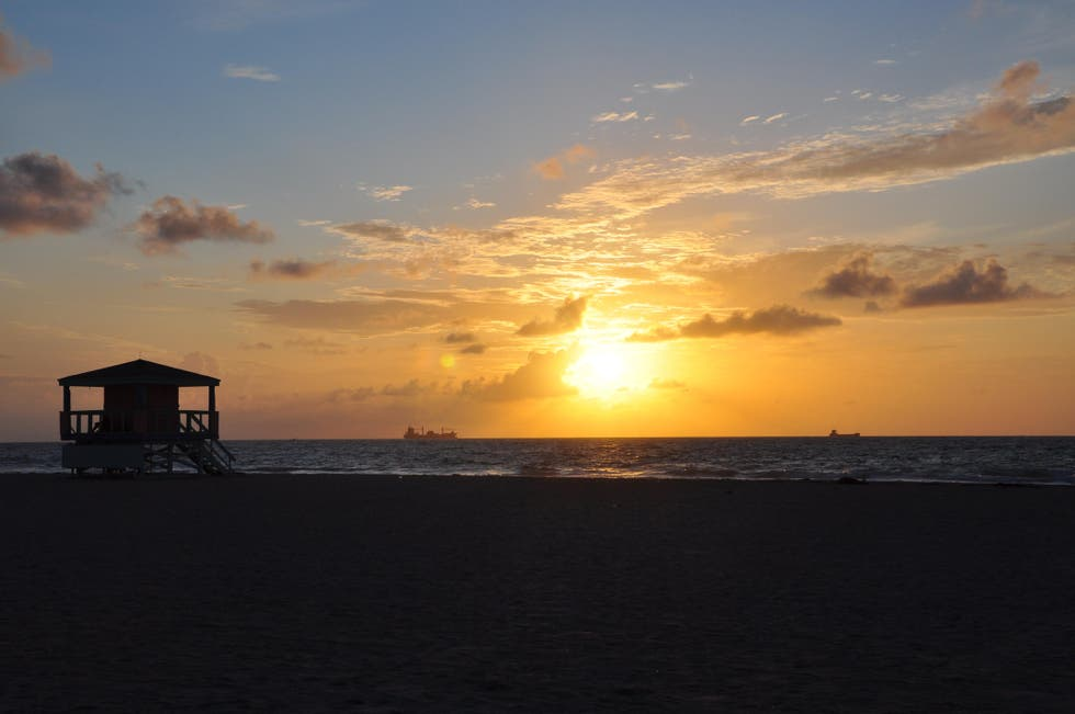 Atardecer en South Beach