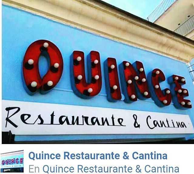 Fuente (tipografía) en Quince restaurante y cantina