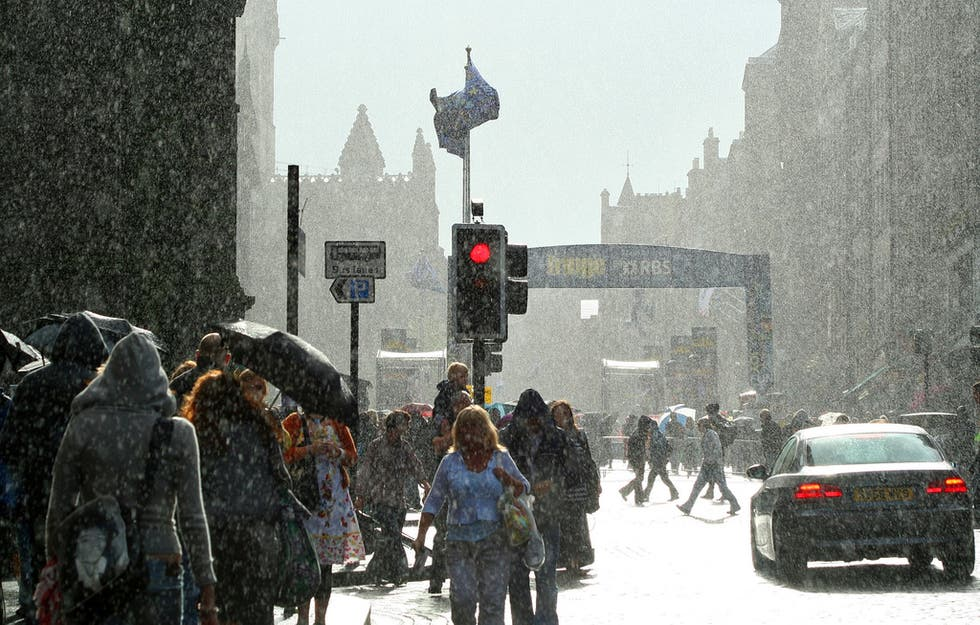 Nieve en Royal Mile