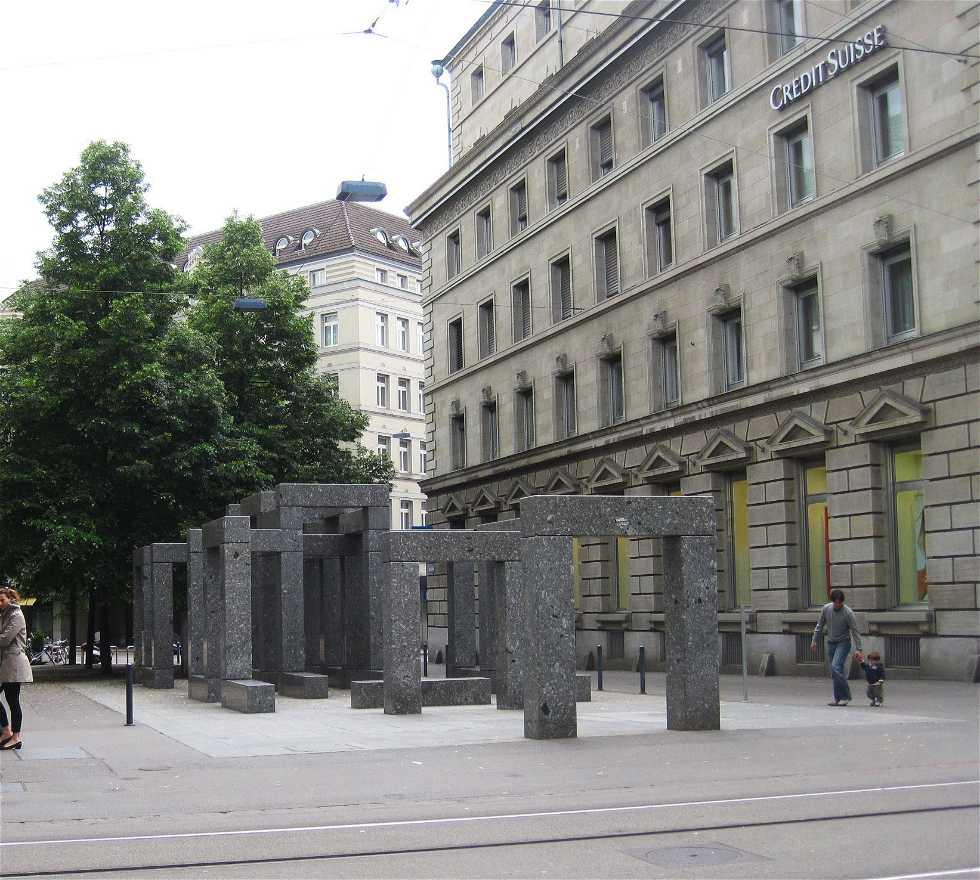 Plaza en Las calles de Zurich