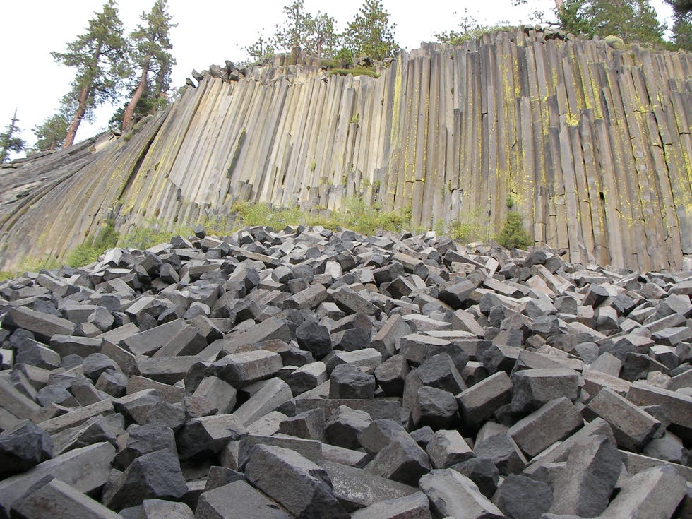 Pared en Devils Postpile National Monument