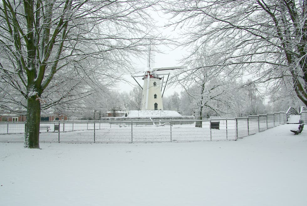 Snow in North Brabant