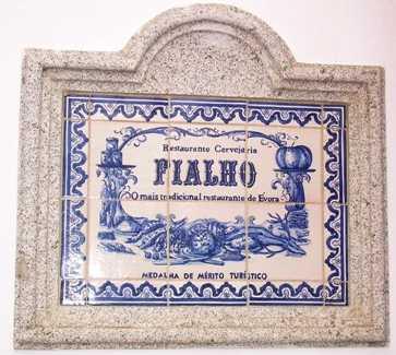 Letrero en Restaurante Fialho