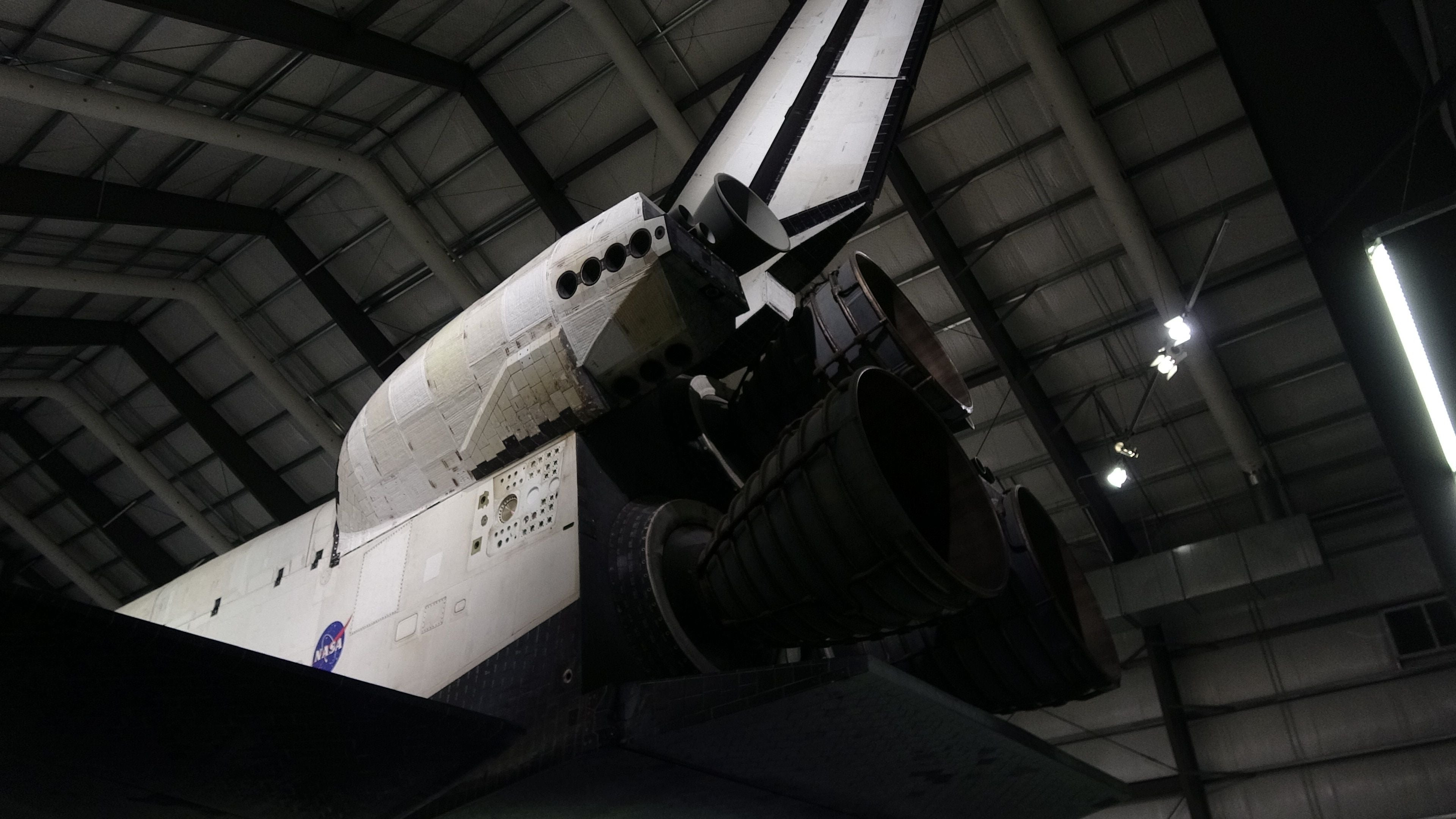 Airplane in Space Shuttle Endeavour