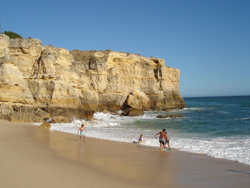 Cliff in Albufeira