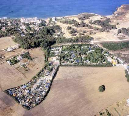 Foto aérea en Camping Fuente del Gallo
