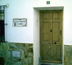 Puerta en Casas Rurales La Torca