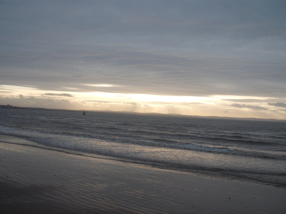 Horizonte en Crosby Beach