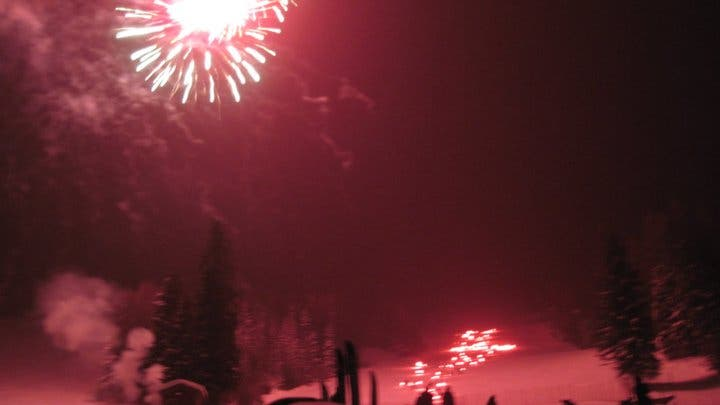 Fireworks in Whitefish