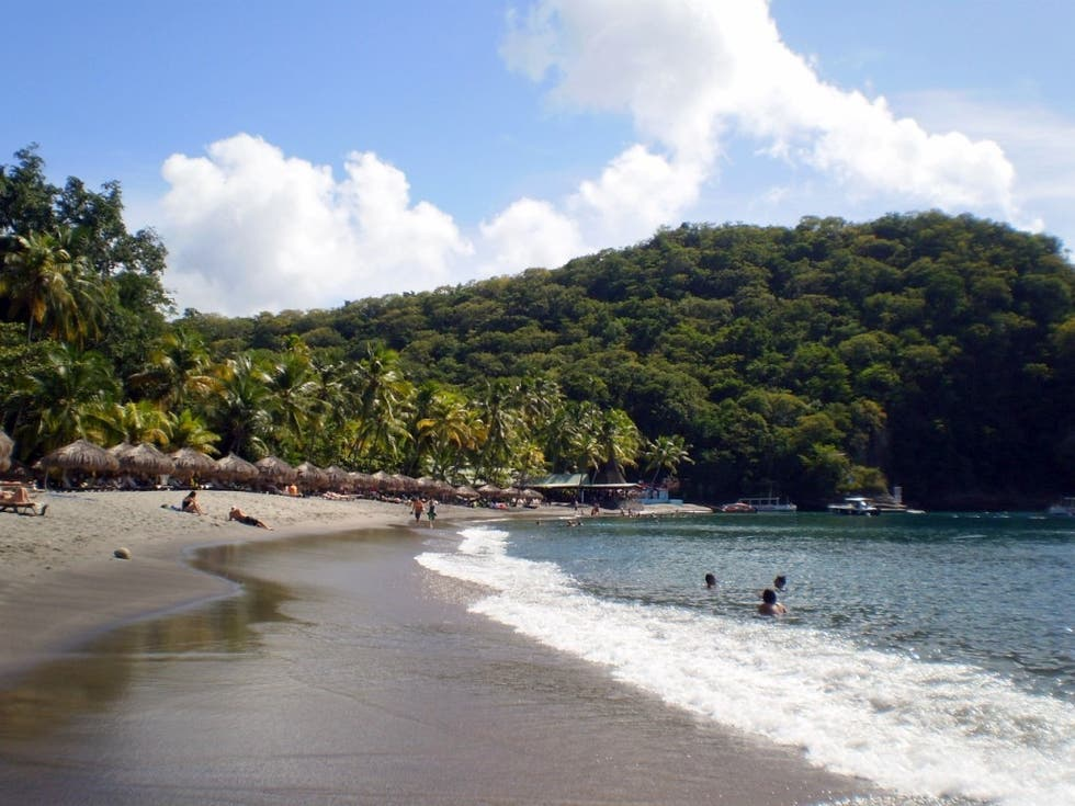 Bay in Saint Lucia