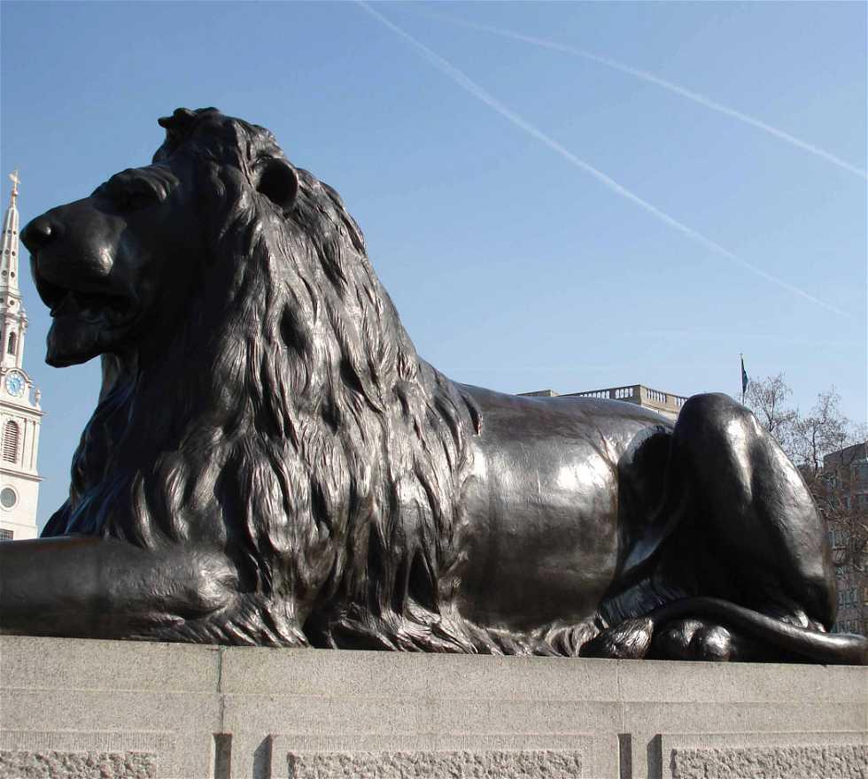 Caballo en Trafalgar Square
