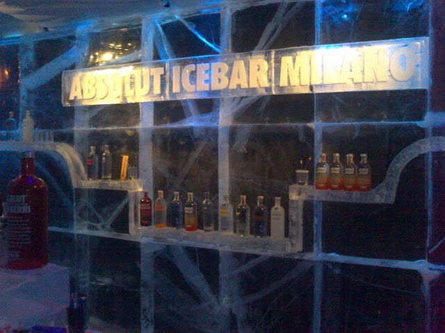Reflejo en Absolut Ice Bar