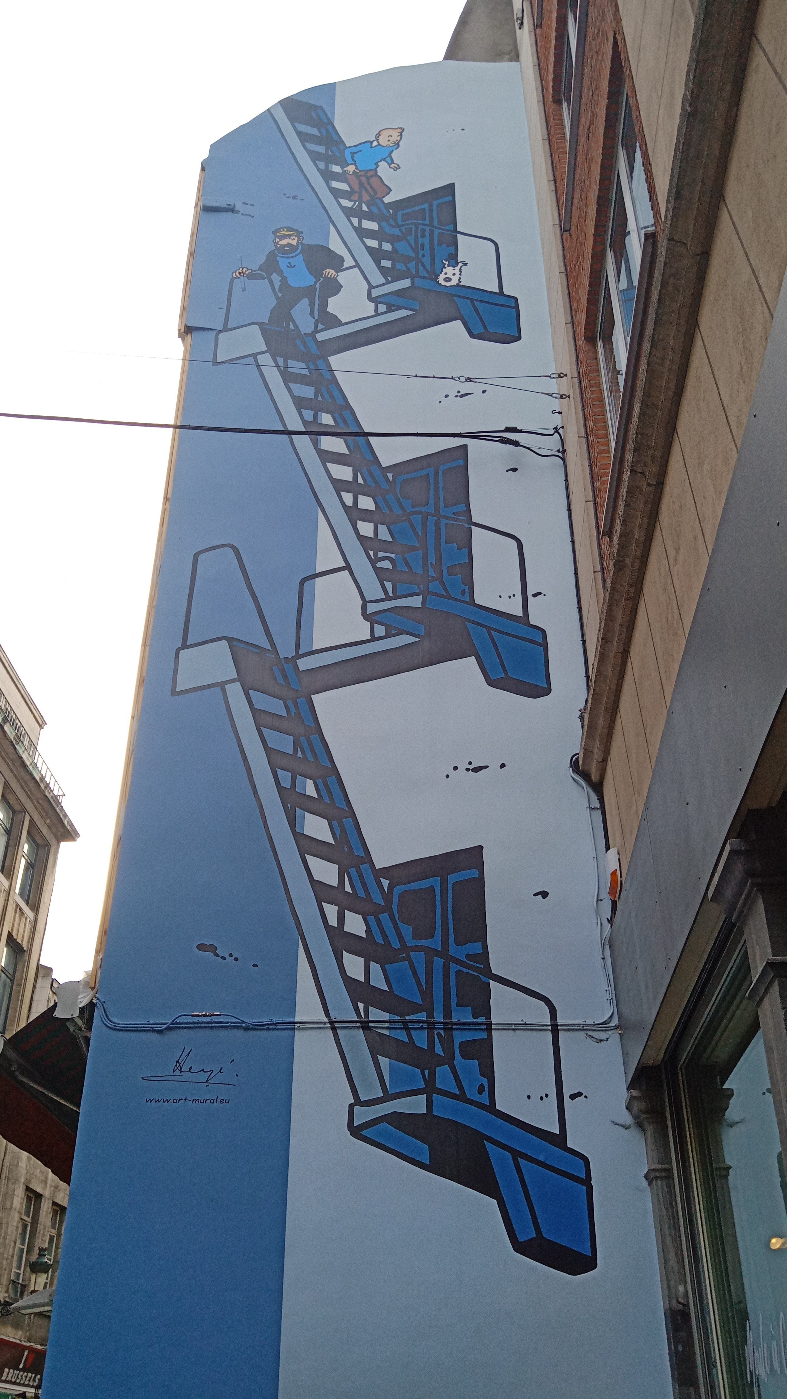 Mural Tintin Brussels