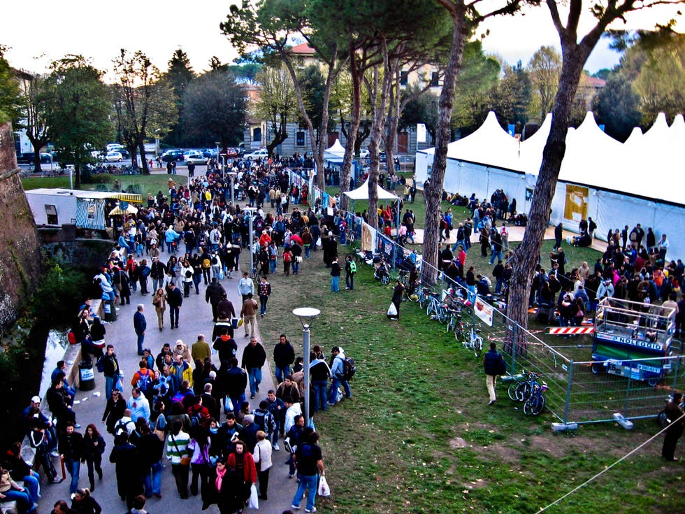 Multitud en Lucca Comics And Games