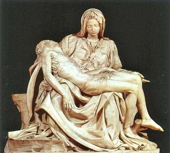 Escultura en La Piedad de Miguel Ángel