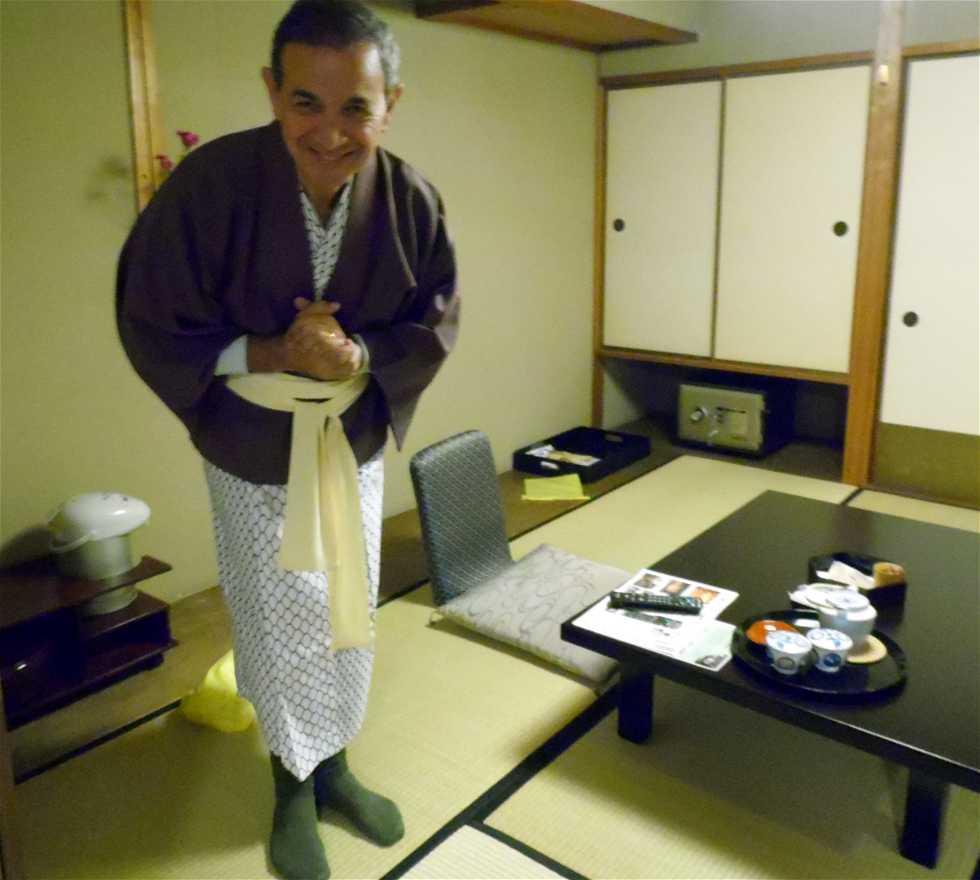 Persona en Hotel Suimeikan Ryorichaya Kitanoryo