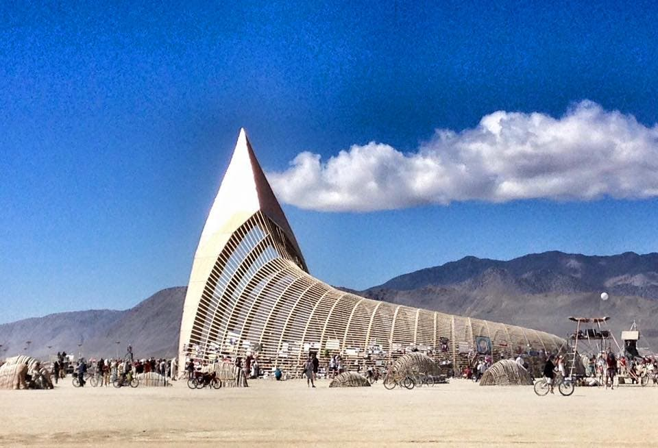 Monumento en Burning Man